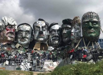 'Mount Recyclemore' Awaits G7 Leaders