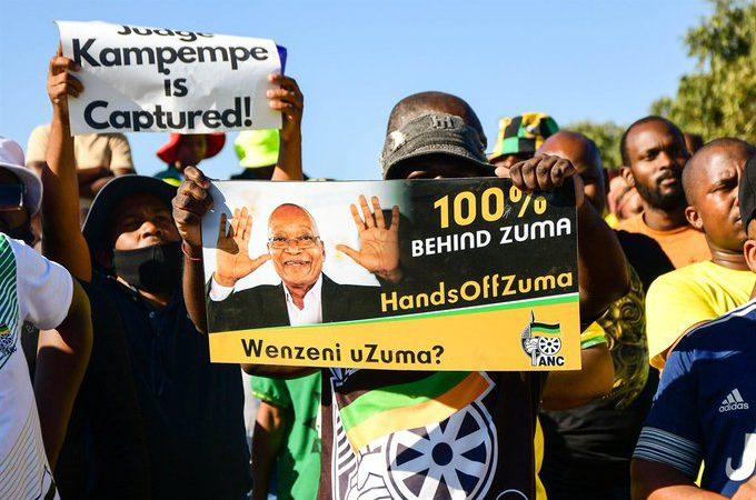 Supporters Gather, Judge Signs Zuma Prison Warrant