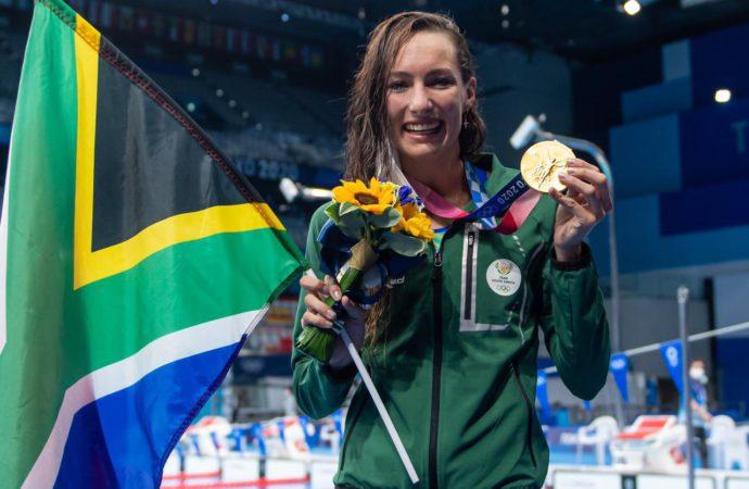 Tatjana's Record Swim Earns SA First Gold