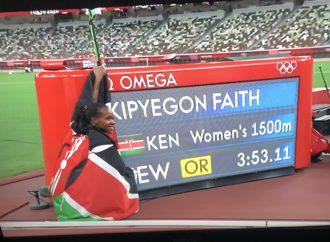 Kenya's Kipyegon Wins Gold, Breaks Record