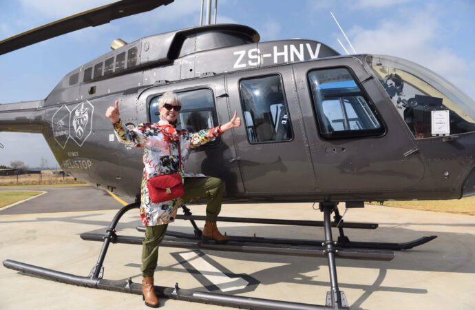 Billionaire's Wife Carolyn Shows Off New Helistop